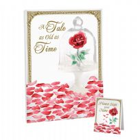 Fairytale Rose Petal Signing Canvas